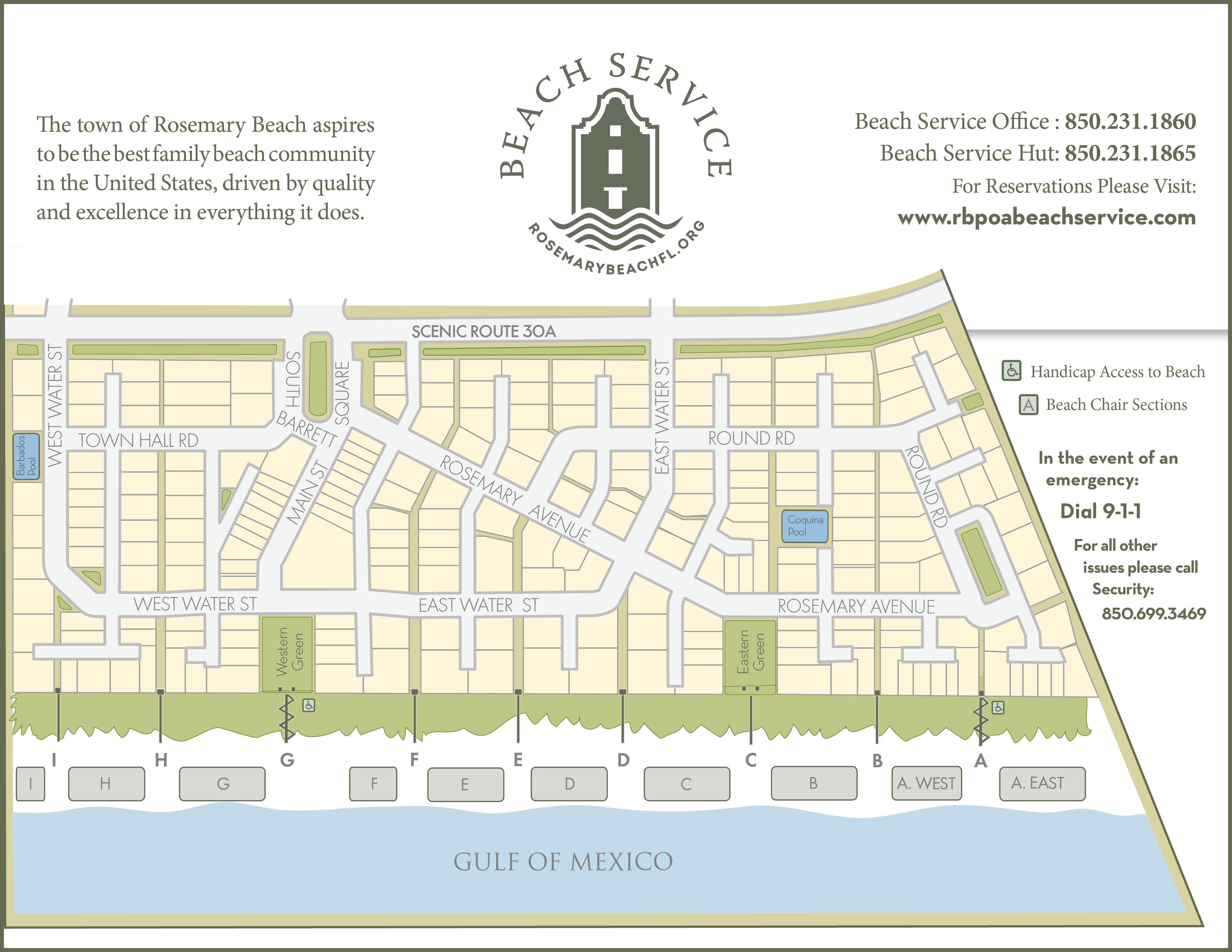 Rosemary Beach Map Rosemary Beach Walkovers | Rosemary Beach Service